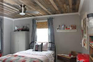 white washed ceiling i made using pallet wood i added a
