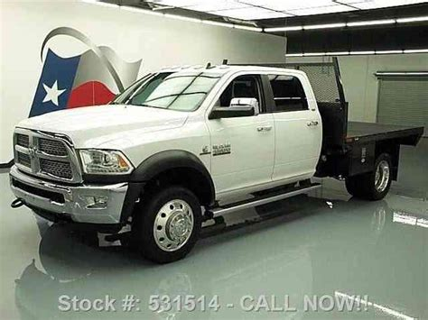 Dodge Ram 4500 4X4 DIESEL GIN POLE FLATBED TOW (2013