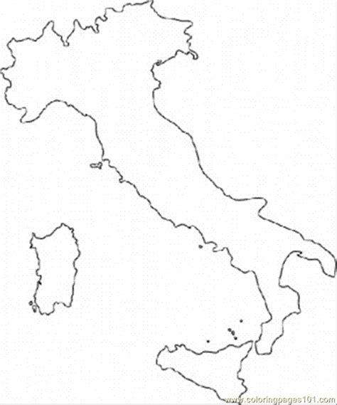coloring page italy printable map of italy for coloring home