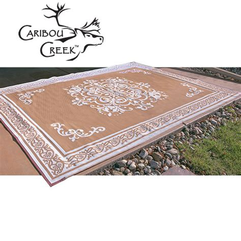 Mildew Resistant Outdoor Rugs Caribou Creek Reversible Fade Resistant Caramel White Outdoor Rug 8 X 11 845402009523 Ebay