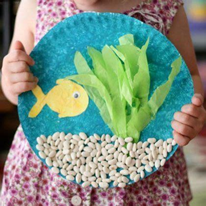 Paper Fish Bowl Craft - toddler crafts southern
