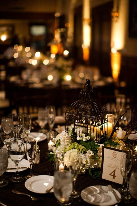 reception decor once wed elegant table settings gold reception table setting details black tablecloth white