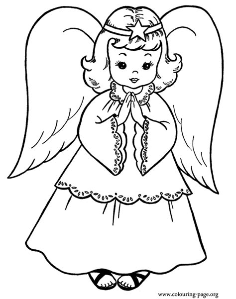 coloring book pages of angels christmas angel coloring pages az coloring pages
