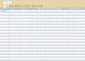 wedding guest excel template wedding guest list spreadsheet wedding guest list worksheet