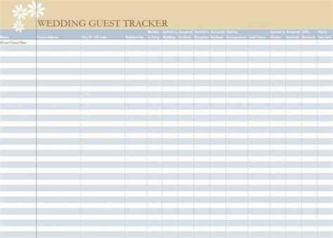 wedding venue comparison spreadsheet example excel wedding guest