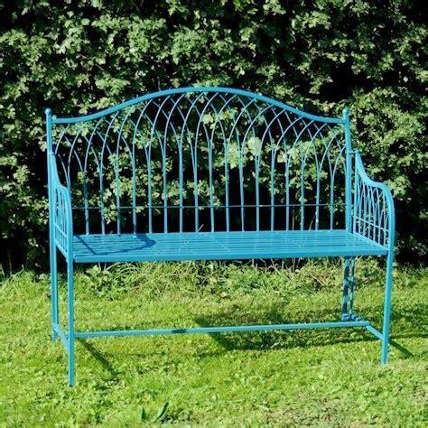 blue garden bench metal garden furniture bistro sets benches homegenies