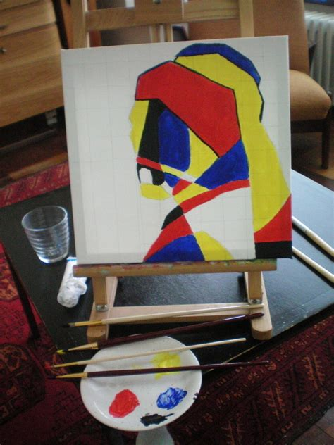 original painting   abstract portrait