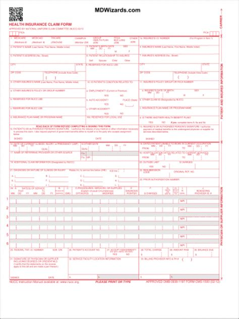 download fillable hcfa 1500 claim form pdf rtf word