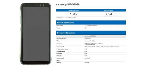 geek bench browser samsung galaxy s8 active sm g892a hits geekbench