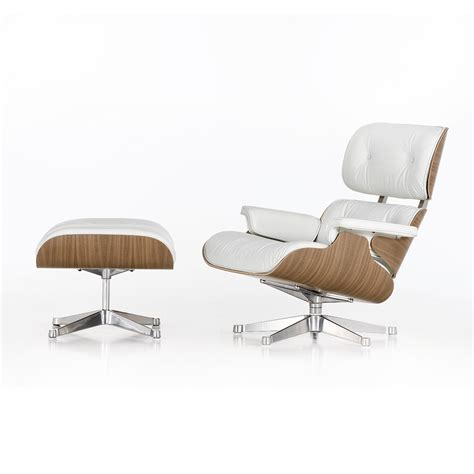 Eames Lounge Chair Ottoman by Buy Vitra Lch Eames Lounge Chair Ottoman Snow Amara