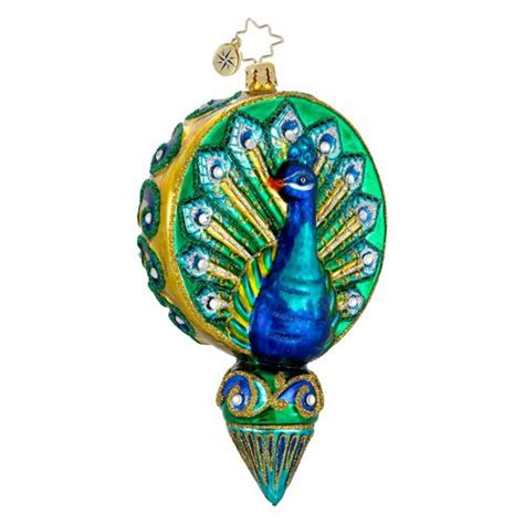 peacock ornament by christopher radko peacocks pinterest