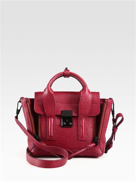 Philip Lim Crimson Pashli 3 1 phillip lim pashli mini satchel in oxblood lyst