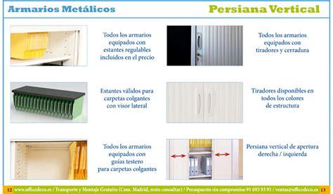 armarios metalicos precios tarifas de precios armarios de persiana vertical para