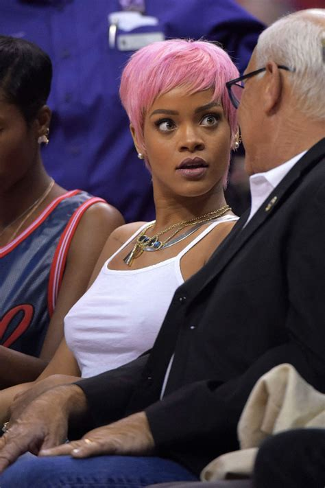 Rihana Pink Dusty pink hair rihanna pictures photos and images for