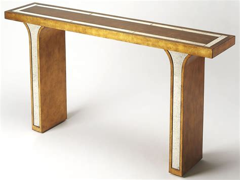 gold console table katya gold leaf console table 9201332 butler