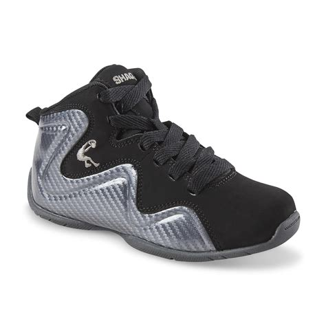 shaq boy s morph silver black high top basketball shoe