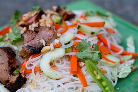 rice noodle salad vietnamese beef and rice noodle salad recipe dishmaps