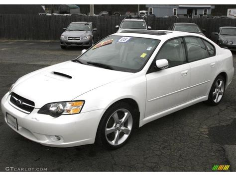 subaru sedan white 2005 satin white pearl subaru legacy 2 5 gt limited sedan