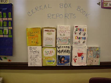 box book report ideas march book report projects cereal book report projects
