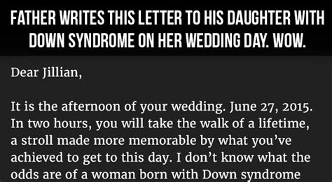 Dad Writes Touching Letter To Daughter With Down Syndrome | father writes this letter to his daughter with down