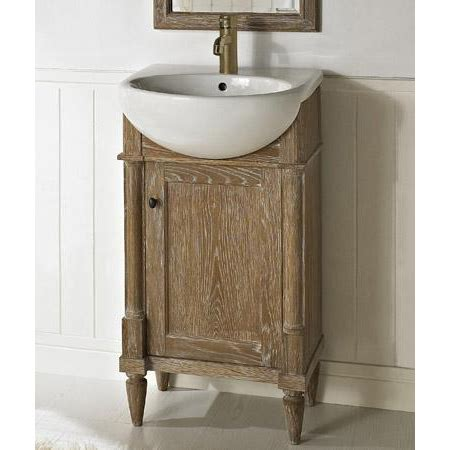 weathered oak bathroom vanity fairmont designs rustic chic 20 quot vanity sink set
