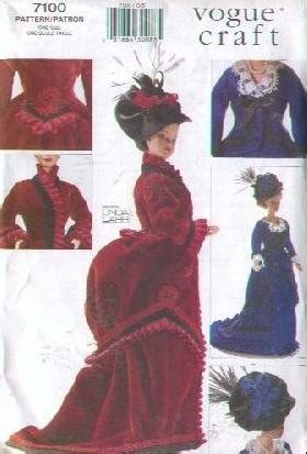 historical pattern library vogue 7100 fashion doll 1800s historical clothes