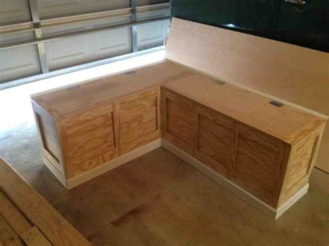 kitchen nook seating benches with storage bench plans with