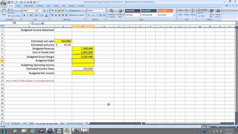 pro forma income statement wmv youtube