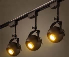 lovely Black Kitchen Light Fixtures #2: Industrial-Vintage-LOFT-pole-track-light-rail-clothing-store-spotlights-backdrop-theatre-exhibition-show-hanging-lights.jpg