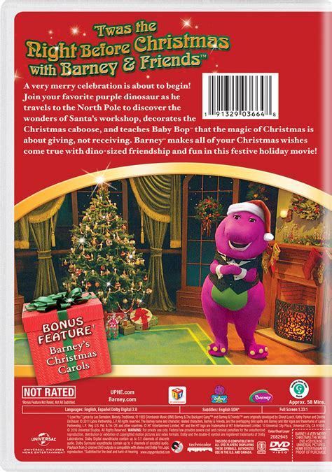 barney   merry christmas    page dvd blu ray digital hd  demand