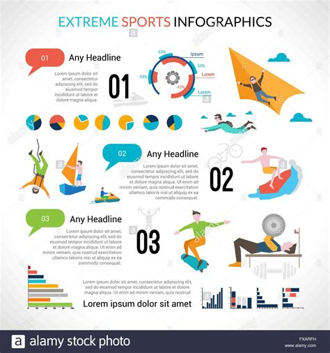 Extreme Sports Infographics Stock Vector Art Illustration Vector Image 102270885 Alamy Sports Infographics Templates
