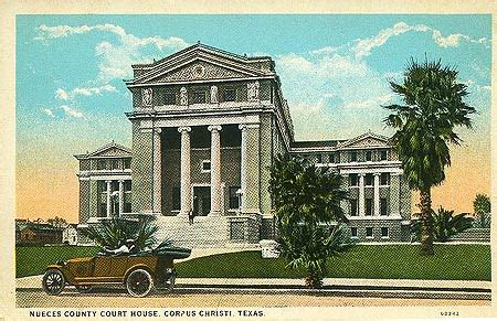 Corpus Christi Court House Nueces County Courthouse Historic Postcard