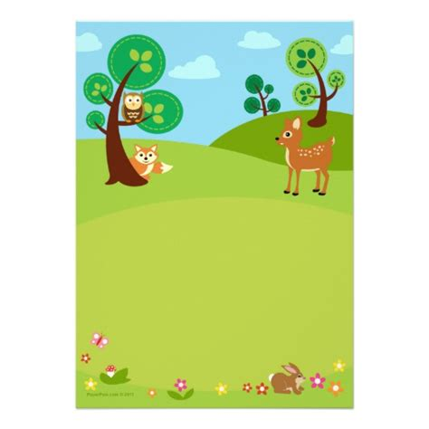 Woodland Creatures Baby Shower by Woodland Creatures Baby Shower Invitations 5 Quot X 7 Quot Invitation Card Zazzle