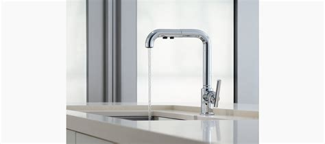 kohler purist kitchen faucet standard plumbing supply product kohler k 7505 bl purist primary pullout kitchen faucet matte