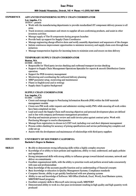 cover letter for supply chain management resume sles for supply chain management www nyustraus