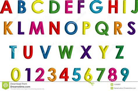 numero lettere alfabeto alfabeto y n 250 meros tridimensionales coloridos fotograf 237 a