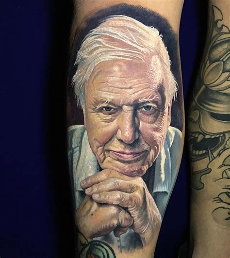 david attenborough tattoo mens forearm piece best
