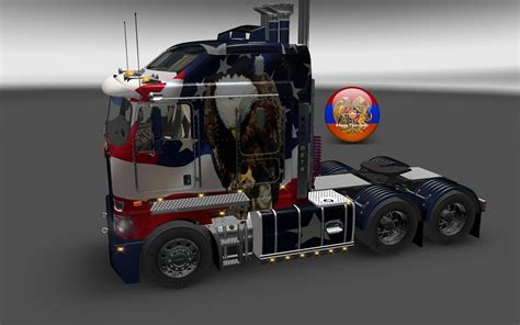 kenworth trucks usa kenworth k200 metallic usa style skin 1 26 4 3s truck skin