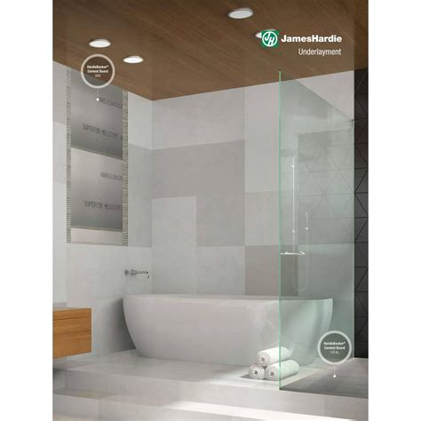 hardie bathroom products james hardie hardiebacker 1 4 in x 4 ft x 8 ft cement