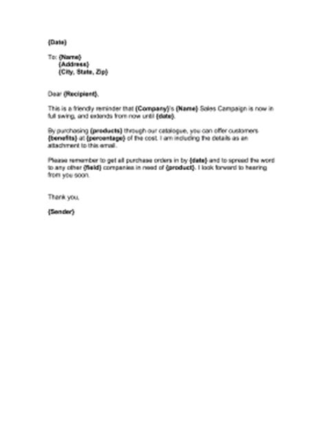 Business Letter Sle Announcement Announcing Sales Caign Template