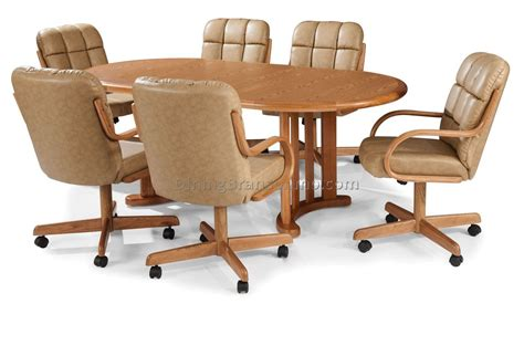 casters for dining room chairs dining room sets with caster chairs best dining room