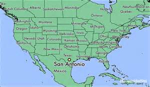 san antonio map usa