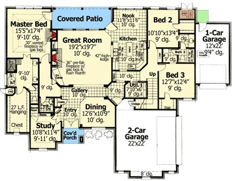 home plans with hidden rooms secret room in the study 48308fm 1st floor master suite bonus room butler walk in pantry