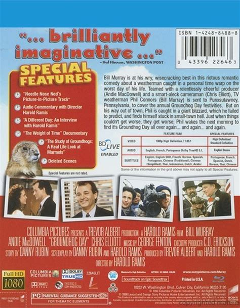groundhog day dvd groundhog day 1993 dvd empire