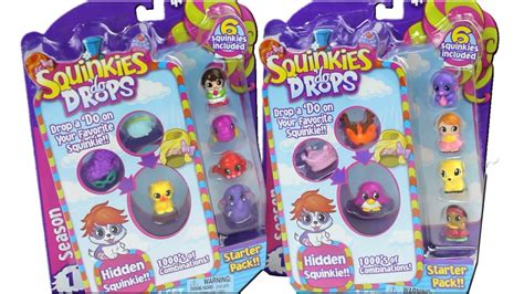 squinkies do drops 6 pack starter packs unboxing review