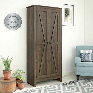tall storage cabinet farmhouse rustic wood kitchen pantry