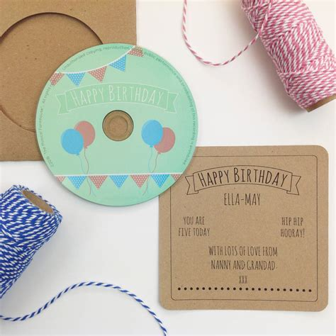happy birthday song personalised cd by jagsbery