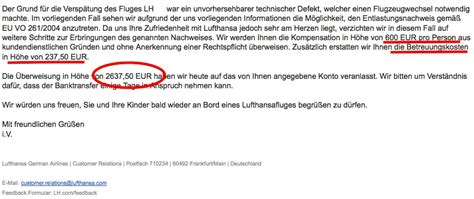 Complaint Letter About Flight Delay compensation clinic 2 637 from lufthansa for