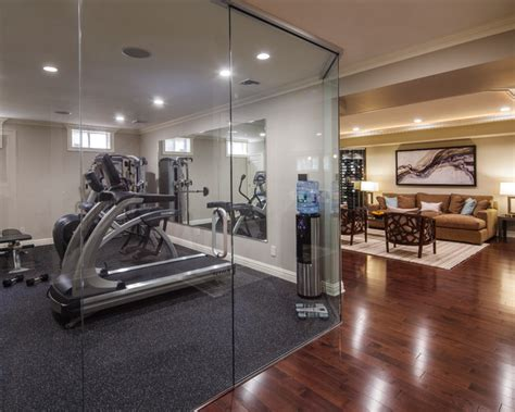 home gym design modern basement home gym area design with tv room home