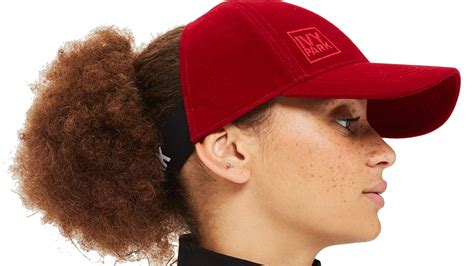haired in a hat a baseball hat for curly hair park s backless cap